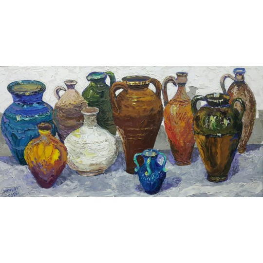 Цветные кувшинчики. Colored jugs.