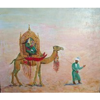"Зулейха на верблюде. Из поэмы ""Иосиф Прекрасный"". Zuleikha on a camel. From the poem ""Joseph the Beautiful."""