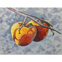 Ветка хурмы. A branch of persimmons.
